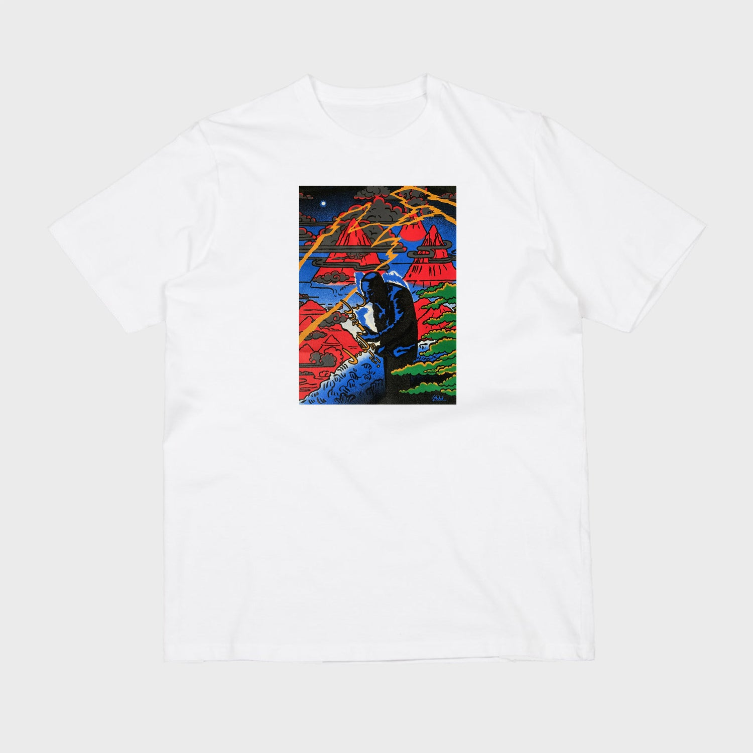 Image of Coltrane (White short sleeve t-shirt)
