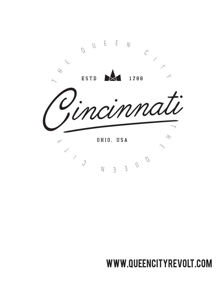 Image of Cincinnati Circle, French Terry Sweatshirt, Black