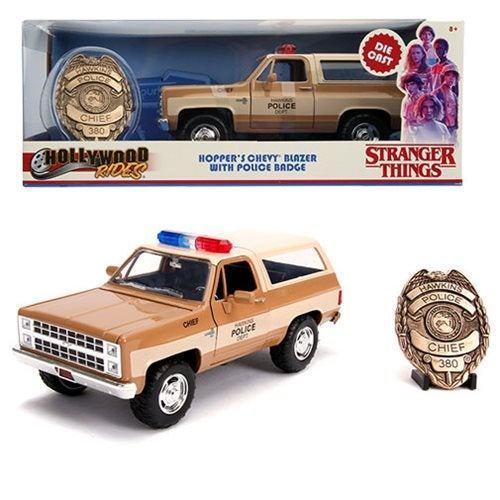 Image of Stranger Things 1980 Chevy Blazer 1:24 with Badge