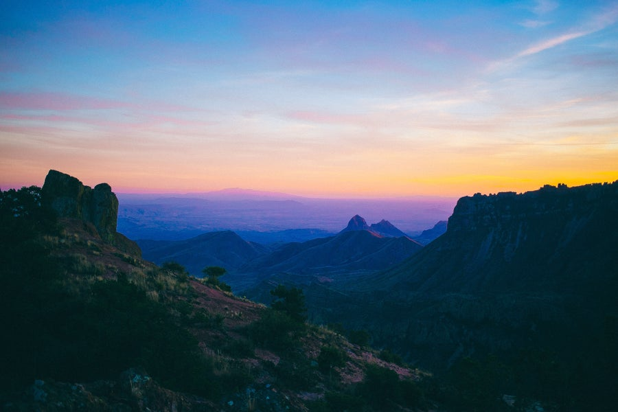 Image of Big Bend Sunset 8x10 Print