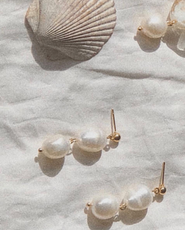 Image of Noor Sea Pearl Earrings