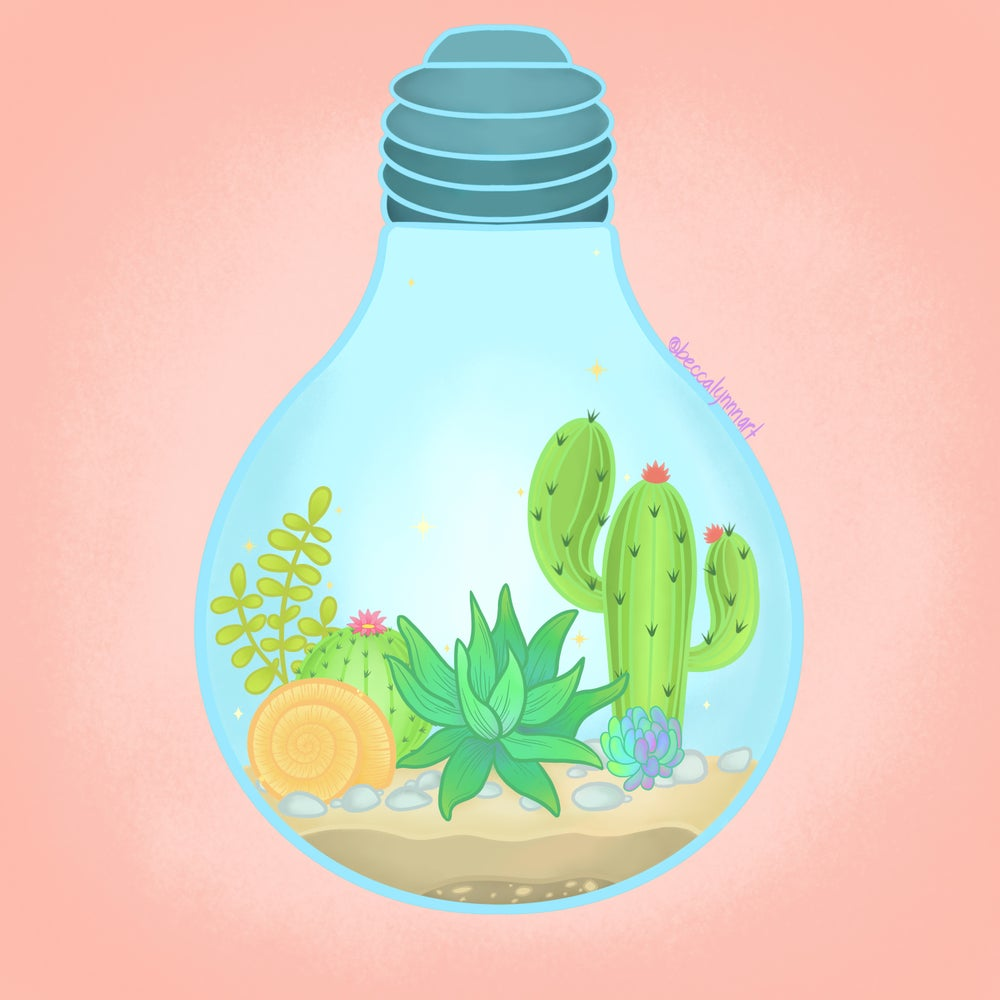 Image of Succulent Light Art Print