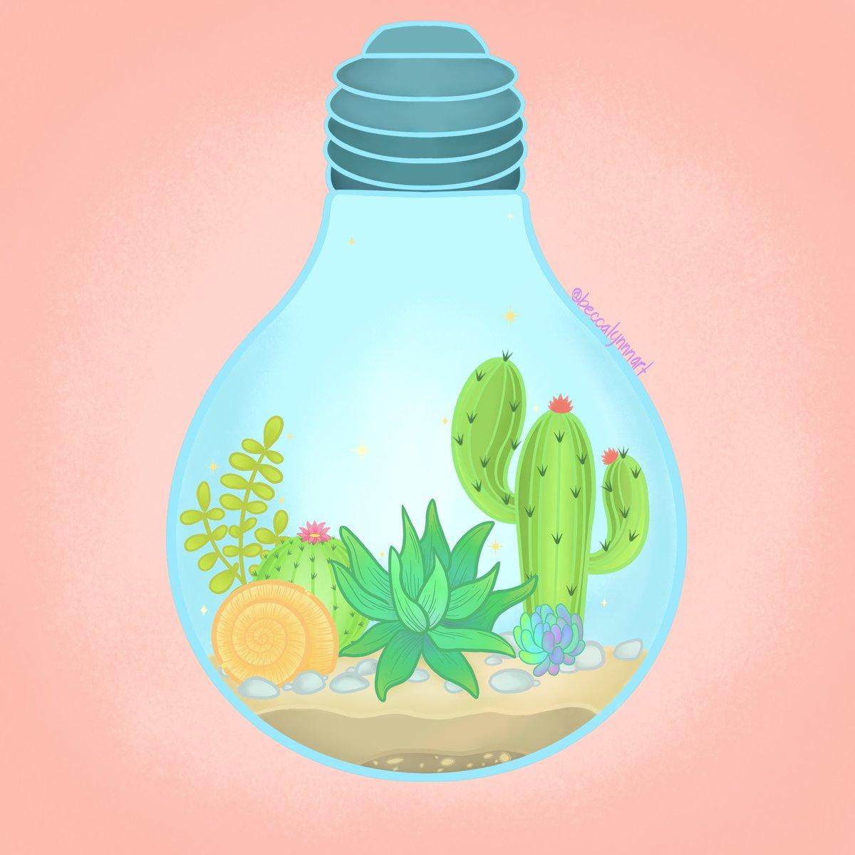 Image of Succulent Light Art Print
