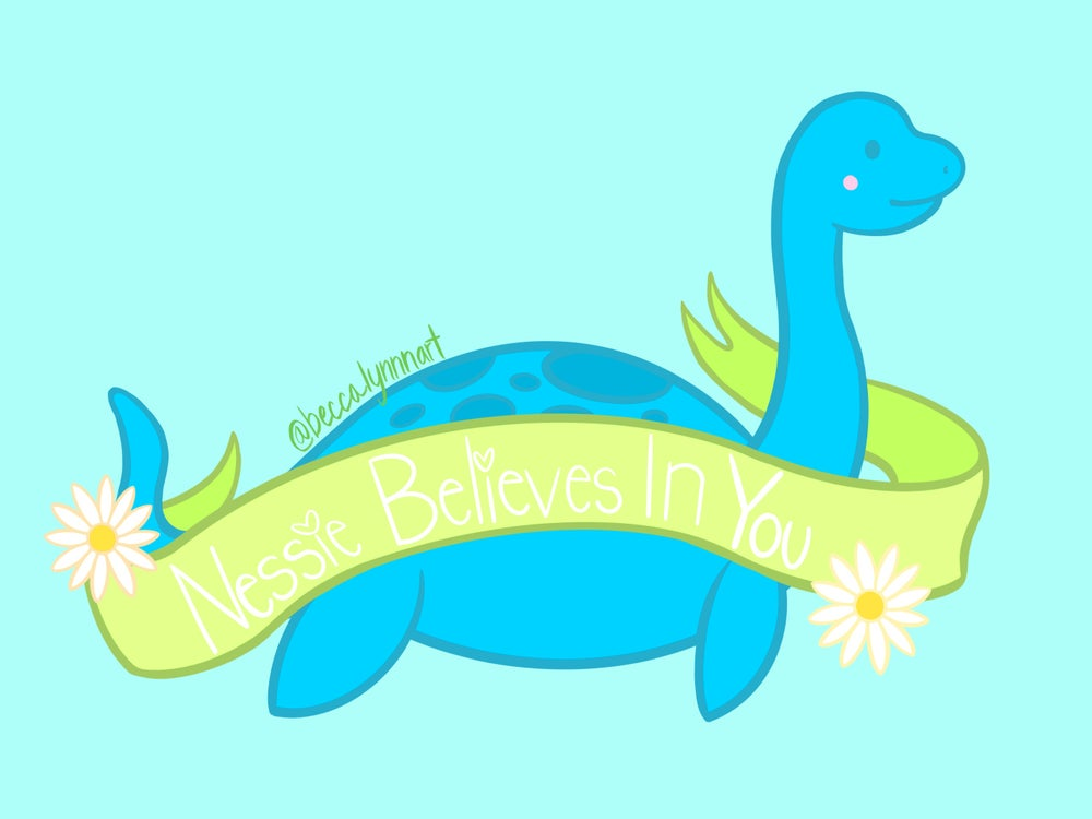 Image of Nessie Believes Art Print