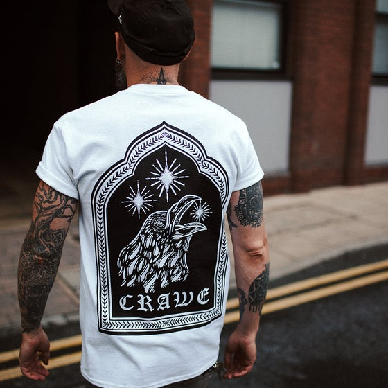 "Image of ""CRAWE"" TEE WHITE"