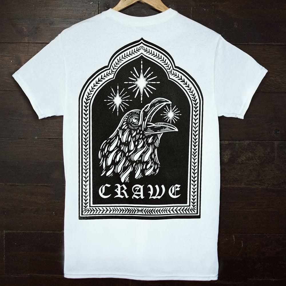 """Image of """"CRAWE"""" TEE WHITE"""