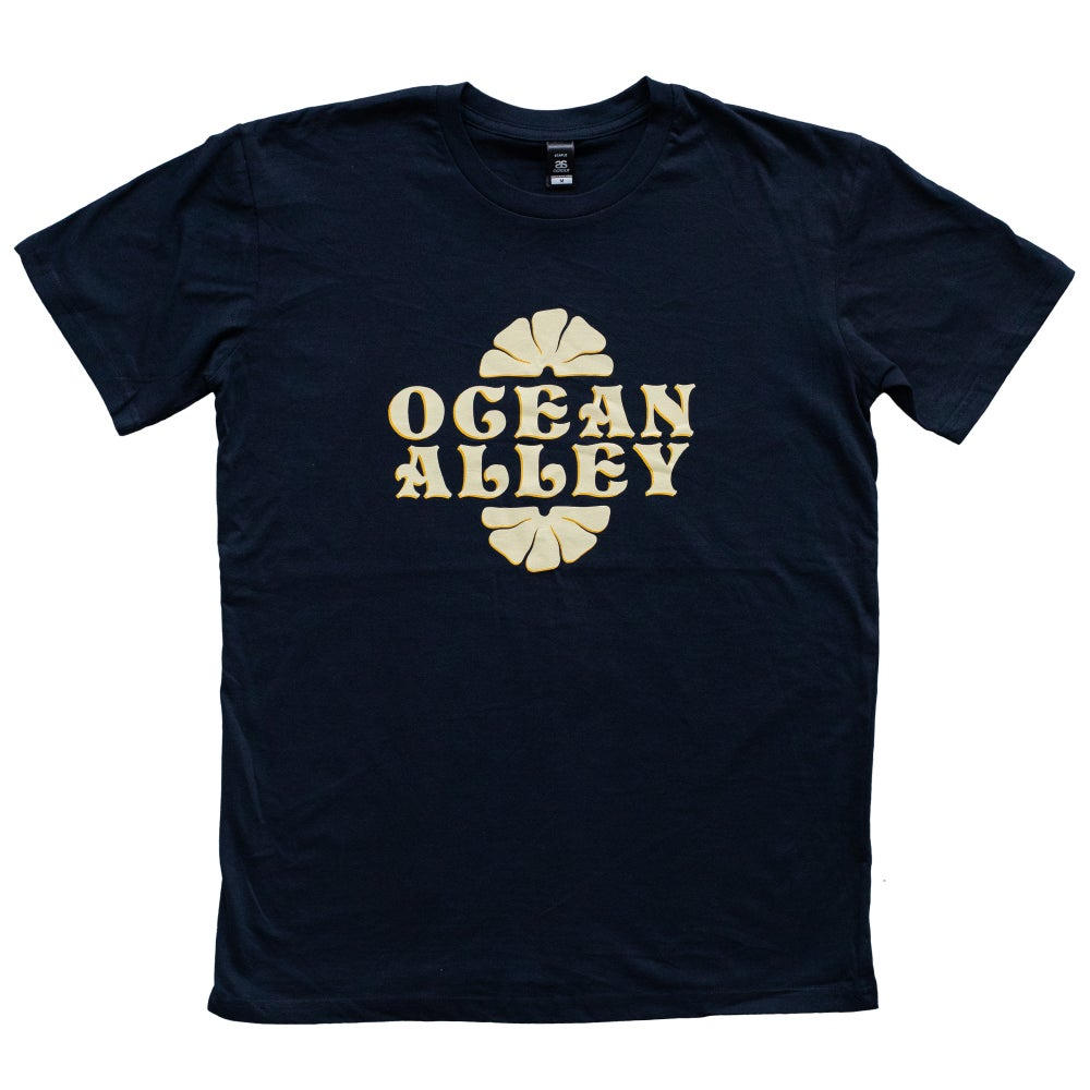 Image of Ocean Alley Logo Navy T-shirt