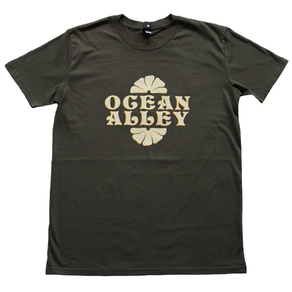 Image of Ocean Alley Logo Khaki T-shirt