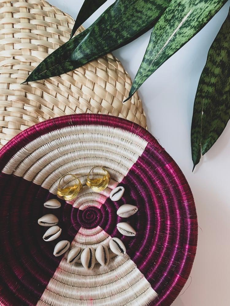 Image of •fortune• Fulani hoop earrings