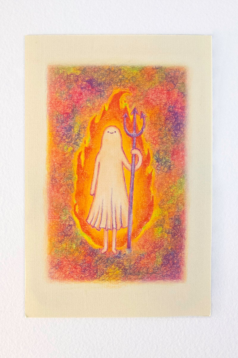 Image of Ghost Girl goes to Hell Postcard