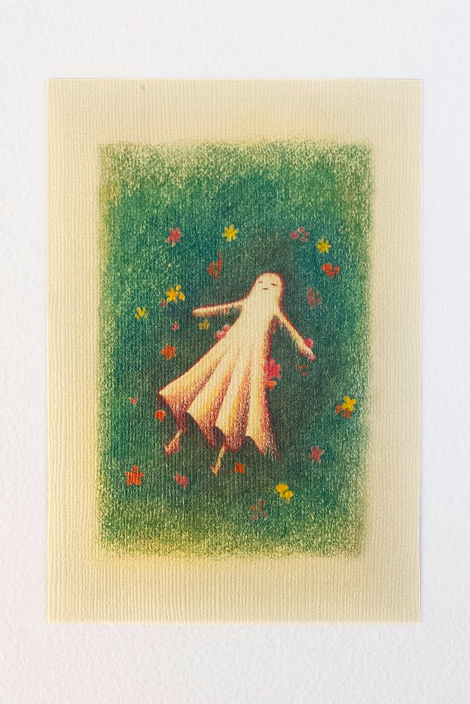 Image of Ghost Girl goes to Sleep Postcard