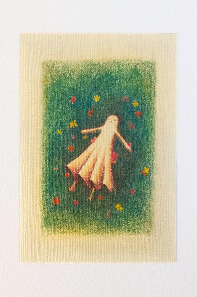 Image of Ghost Girl goes to Sleep Postcard