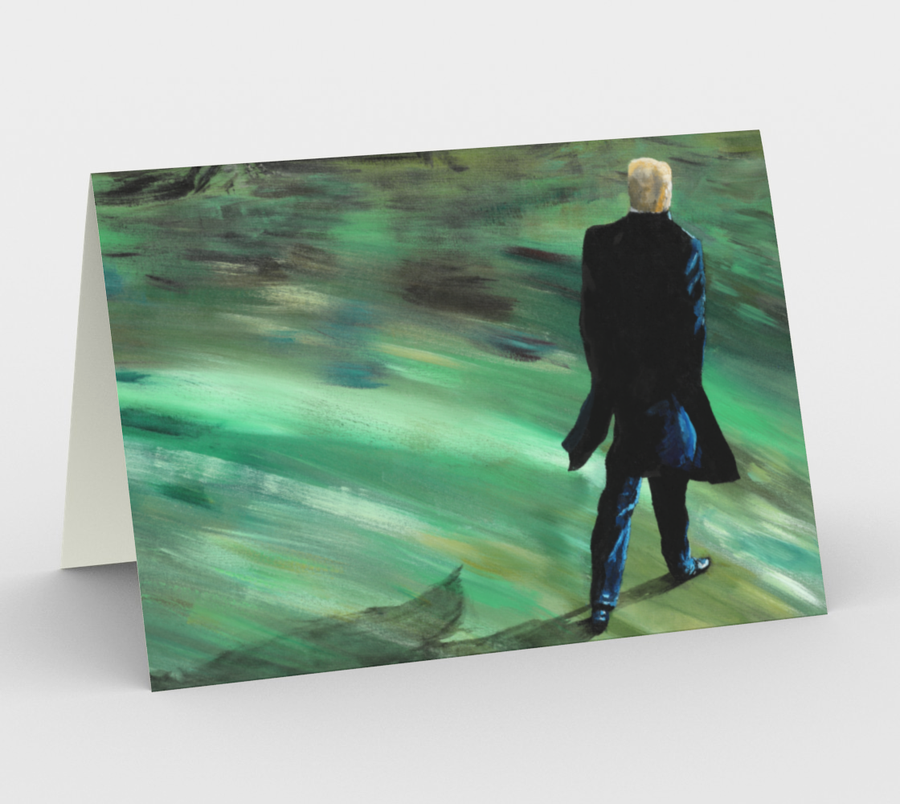 "Image of ""The Walk"" Greeting Cards"