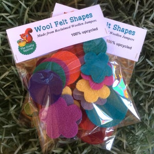 Image of Crafty Squirrel Wool Felt Shapes made from reclaimed woollen jumpers