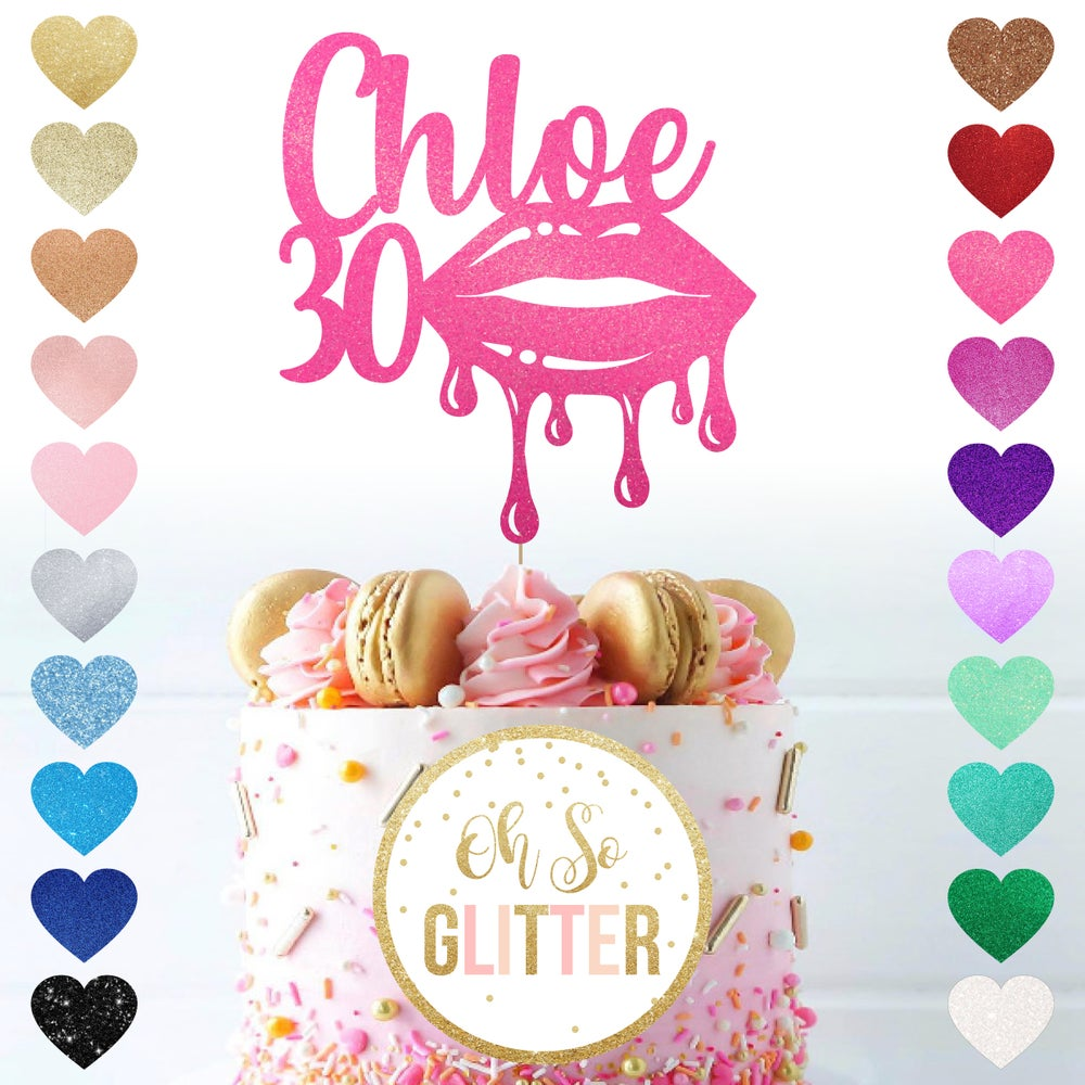 Image of Make-Up Lips customised cake topper