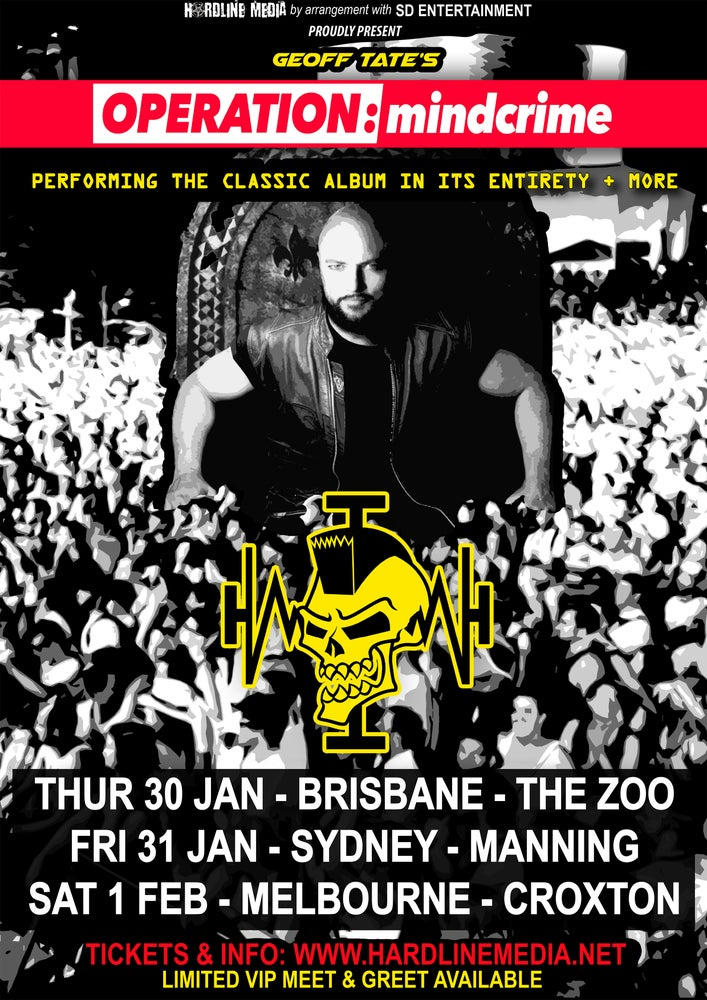 Image of VIP TICKET - GEOFF TATE - MELBOURNE, CROXTON - SAT 1 FEB