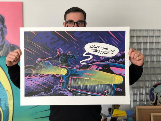 "Image of ""GET ROADKILL"" print"