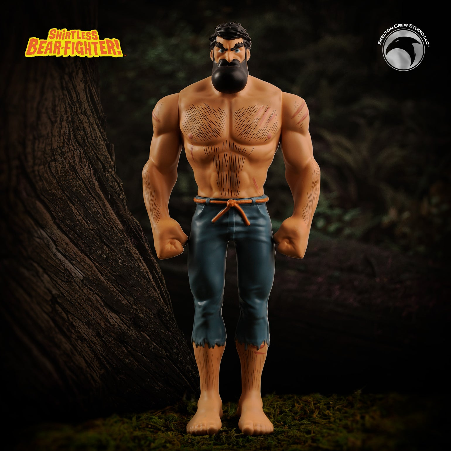 Image of Shirtless Bear-Fighter: Limited Edition Shirtless Bear-Fighter vinyl w/Bear Rug! BACKROOM FIND!