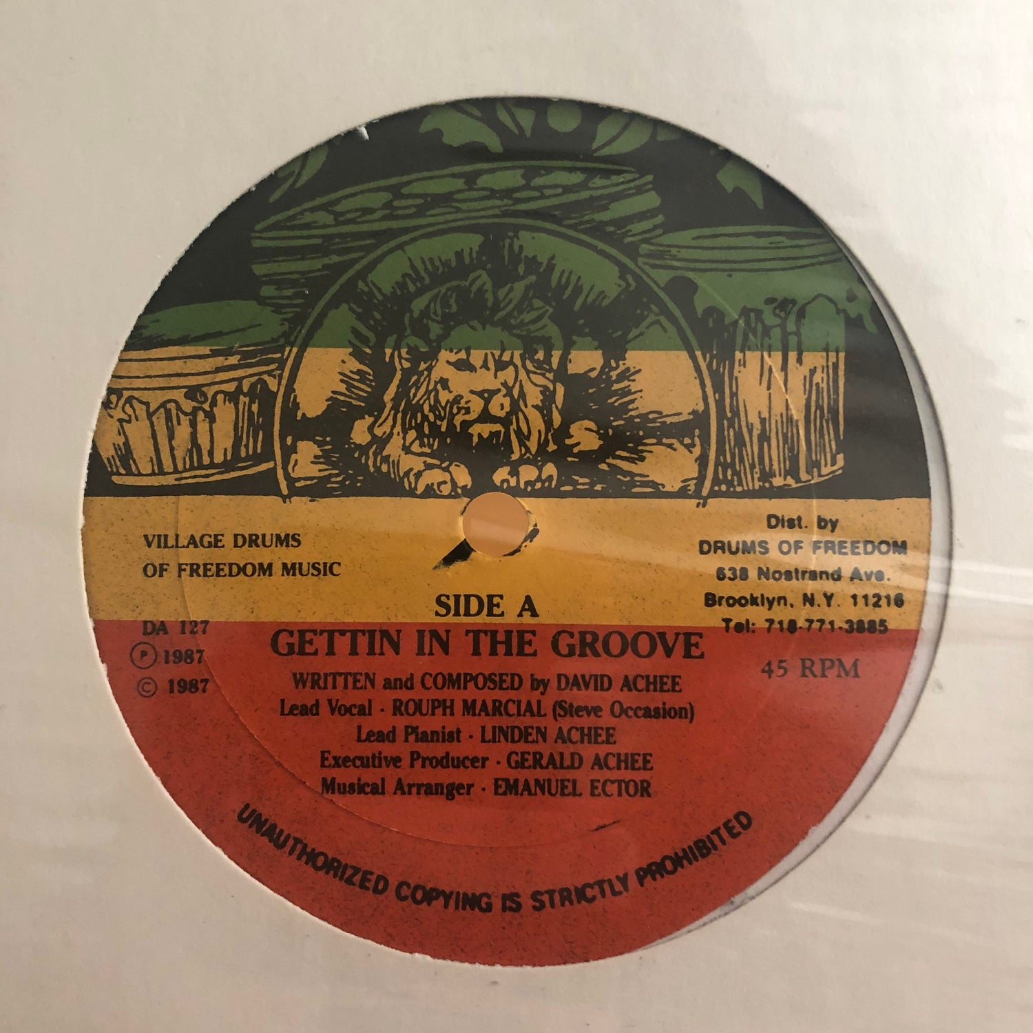 Image of Village Drums Of Freedom ‎– Gettin In The Groove