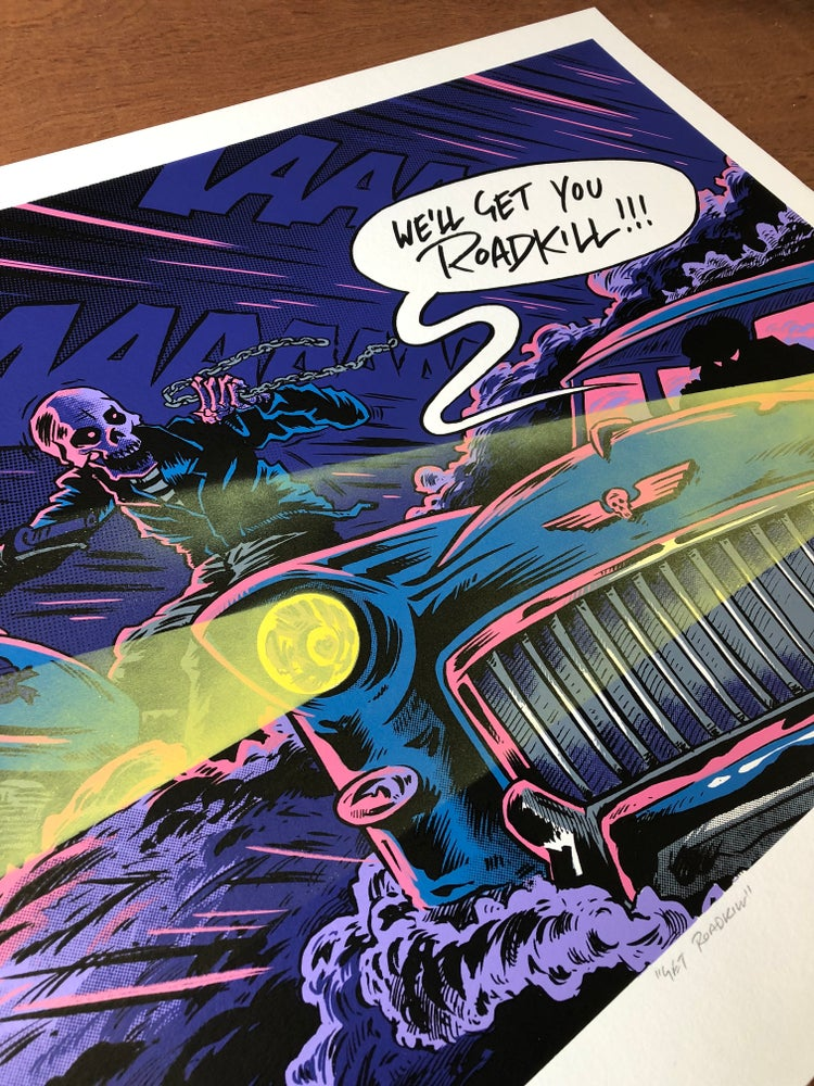 "Image of ""GET ROADKILL"" print"