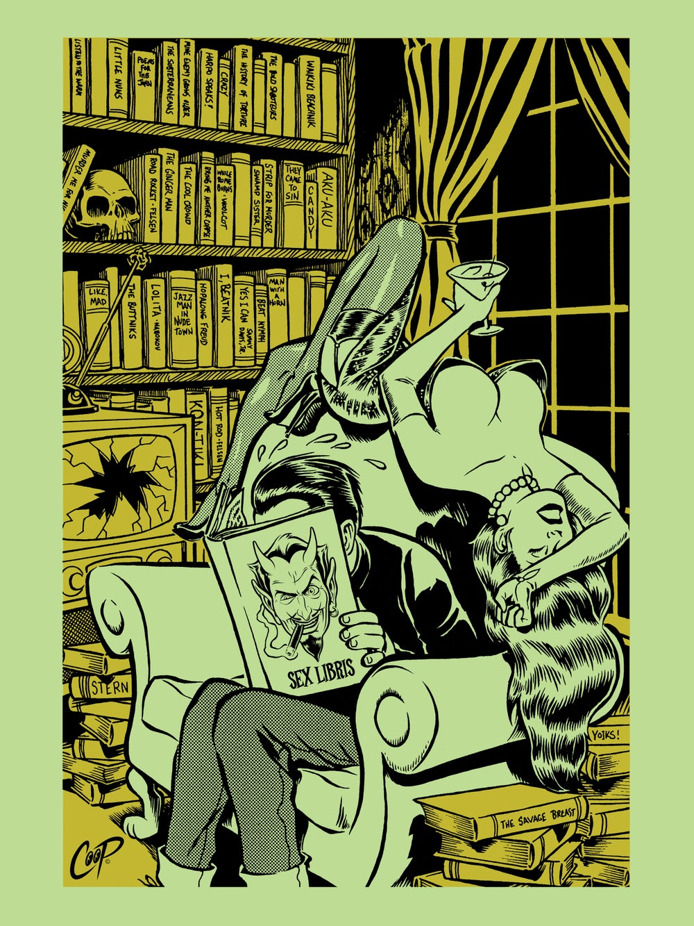 Image of BIBLIOPHILE Silkscreen Print (Almost Sold Out!)