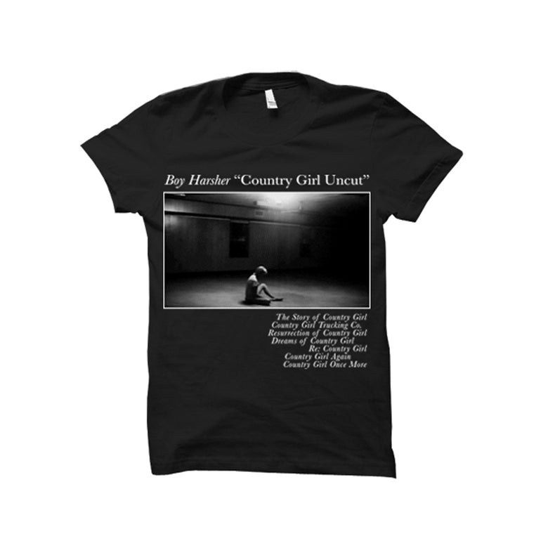 Image of COUNTRY GIRL UNCUT Black T-shirt *PRE-ORDER*