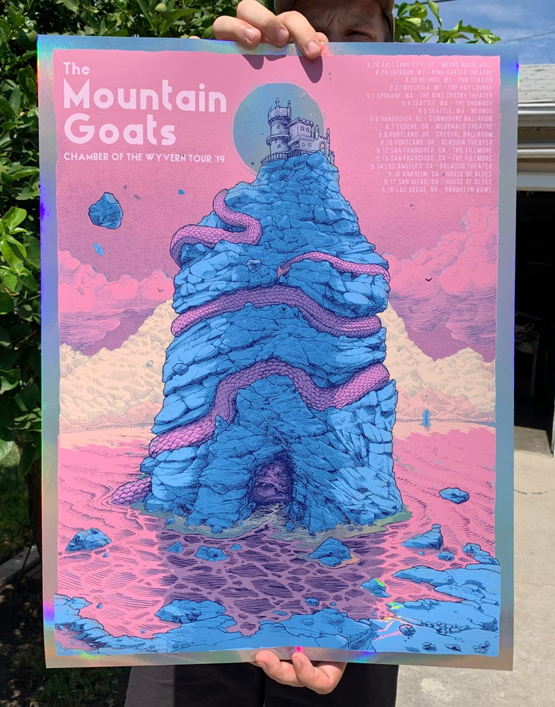 Image of Mountain Goats - Chamber of the Wyvern tour (Foil Edition)