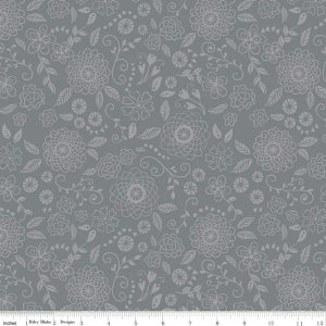 Image of Wildflower Boutique Grey Line Work Floral