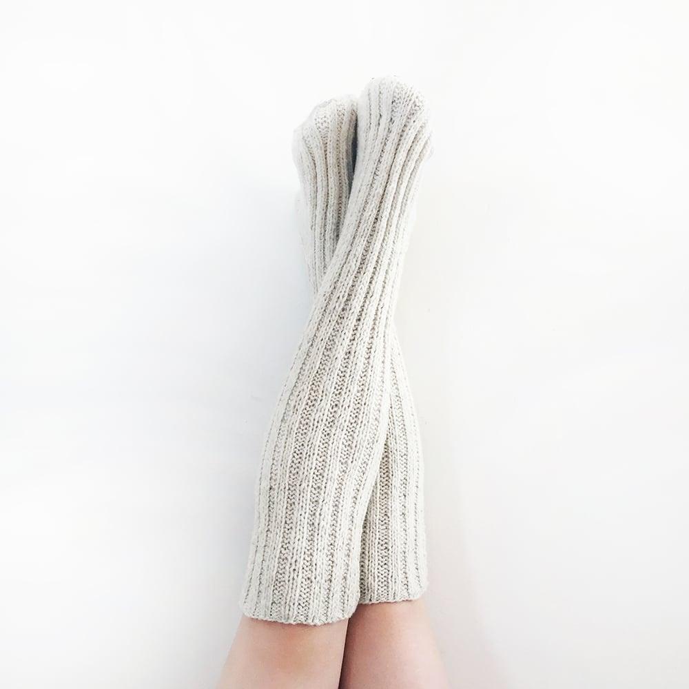 Image of Handspun Merino Wool Knee Socks