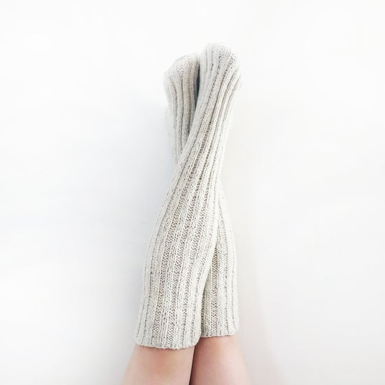 Image of Handspun Merino Wool Knee Socks