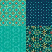 Image of Wildflower Boutique Teal Fat Quarter Panel