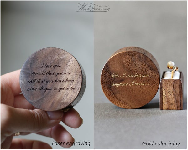 Image of Custom laser engraving / gold color inlay