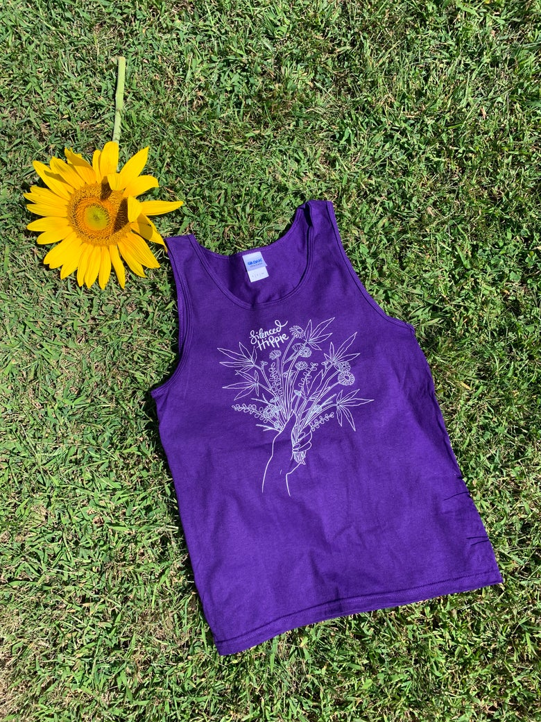 Image of Weedy Wildflower Tank (purple) PRE ORDER