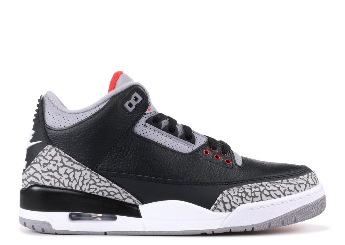 "Image of AIR JORDAN 3 RETRO OG ""BLACK CEMENT """
