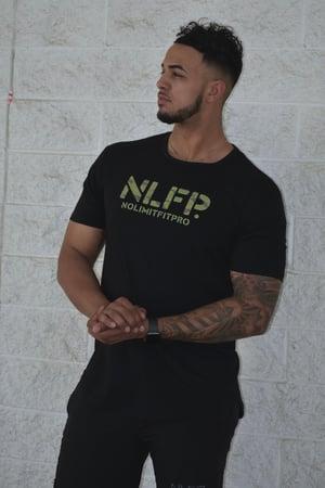 Image of NLFP CAMO SCOOP TEE BLACK