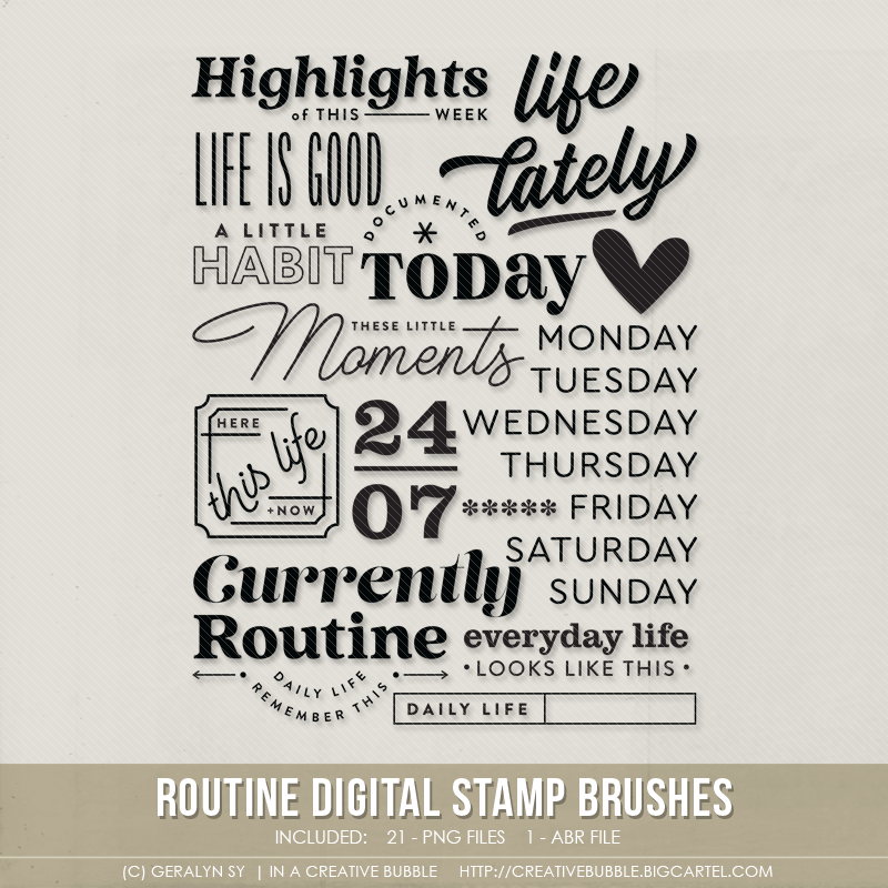 Image of Routine Stamp Brushes (Digital)