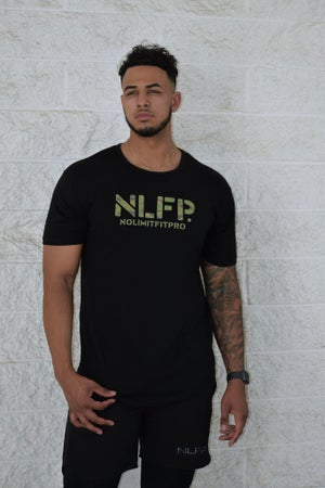 Image of NLFP CAMO TEE SHIRT BLACK
