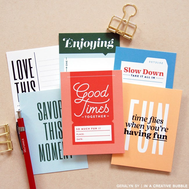 Image of Savor This Moment Journaling Cards