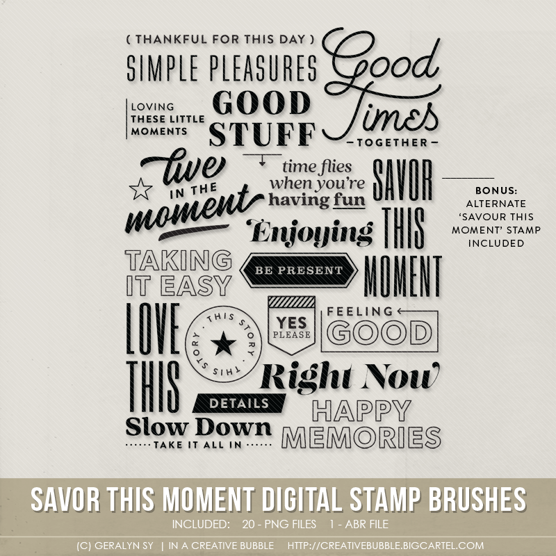 Image of Savor This Moment Stamp Brushes (Digital)