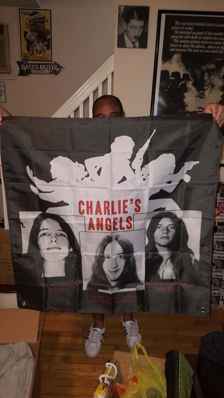 Image of MANSON WOMEN AND GUTTER CHRIST FLAGS (IN STOCK)