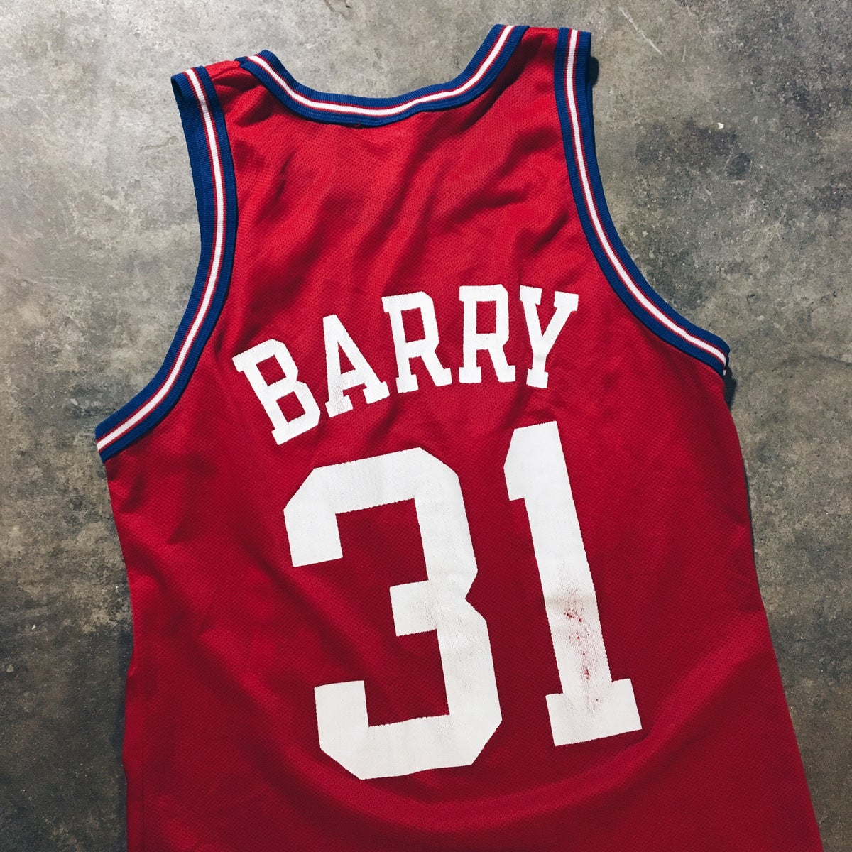 Image of Original 90's Champion Brent Barry LA Clippers Jersey.