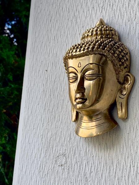 Image of Small Buddha Brass Wall Head