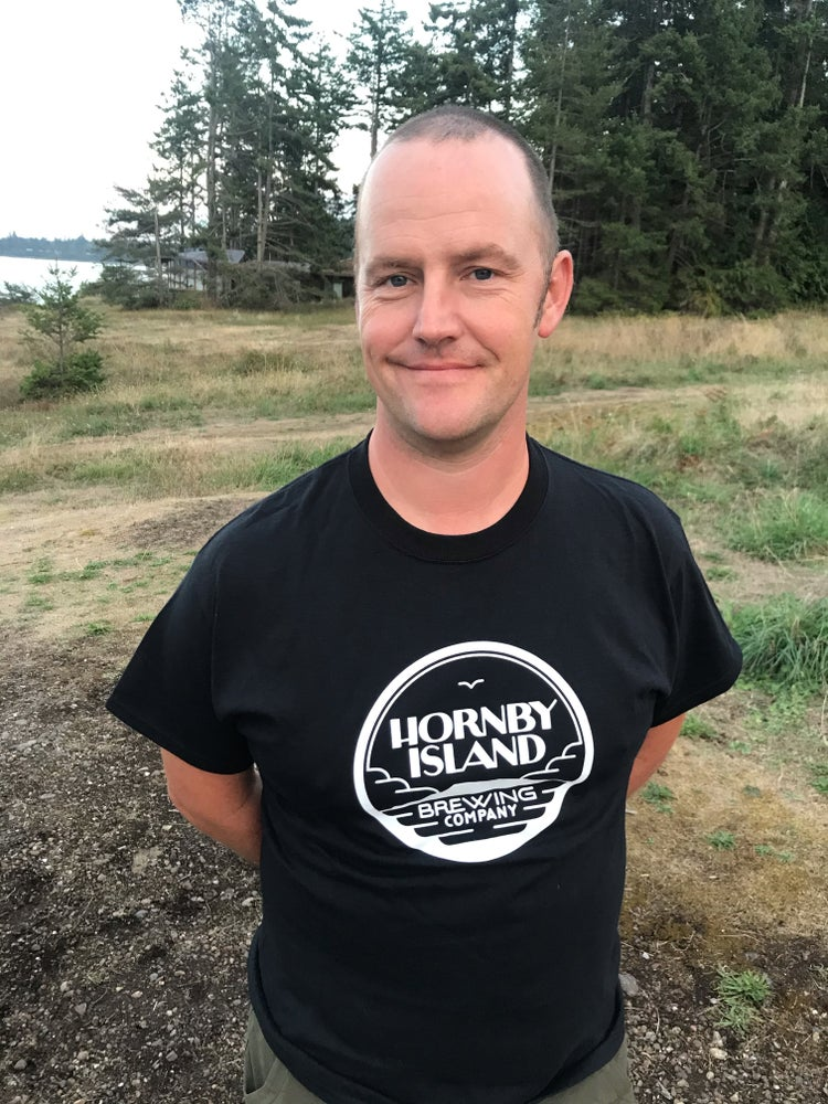 Image of Hornby Island Brewing Company Mens/Unisex Black Tee