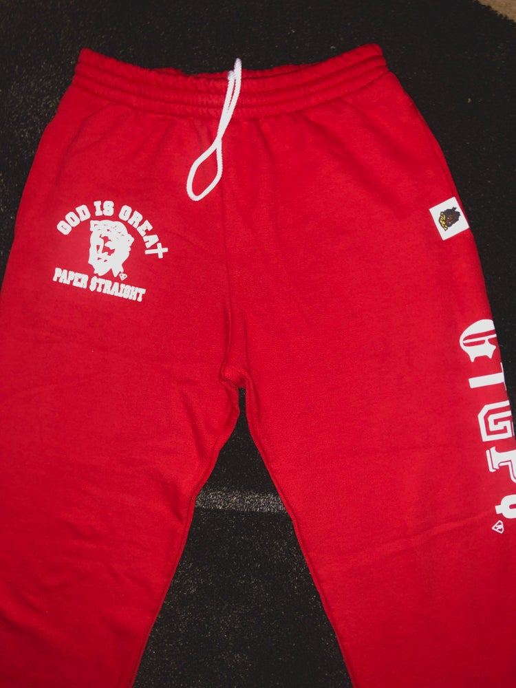 Image of GIGPS RED LETTERMAN LOGO SWEATPANTS (Multi Colors)