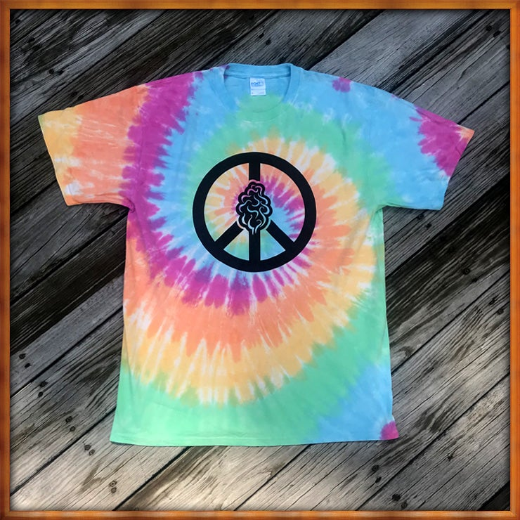 Image of Peace and Trees Tie Dye Shurt