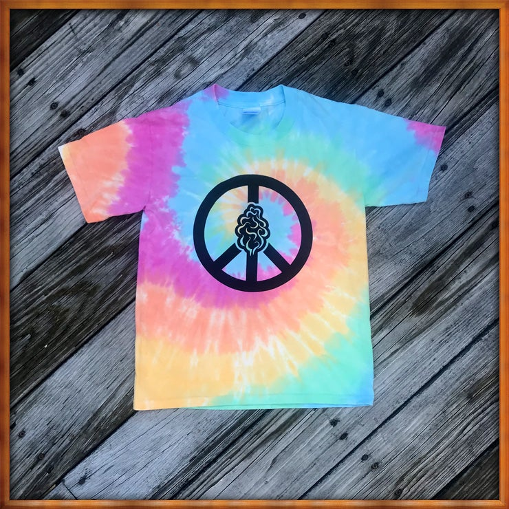 Image of Peace and Trees Tie Dye Kids