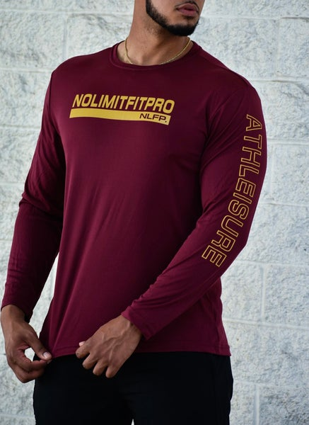 Image of ATHLEISURE LONG SLEEVE BURGUNDY