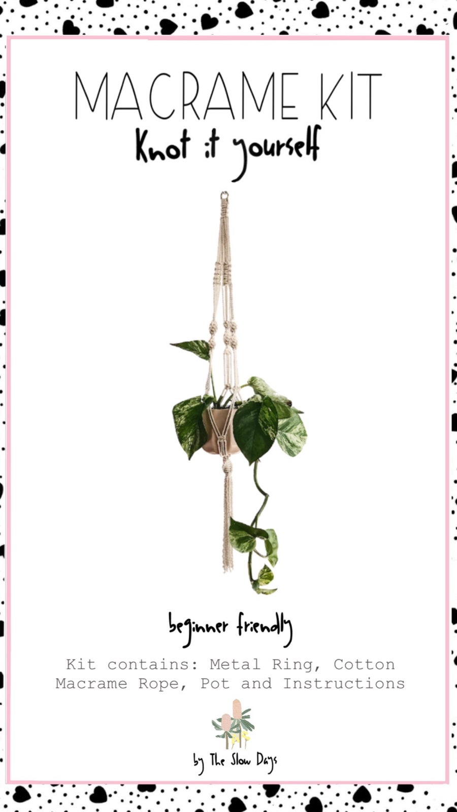 Image of Plant Hanger Macrame Kit