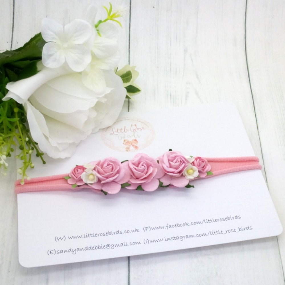 Image of Baby Pink Occasion Flower Headband