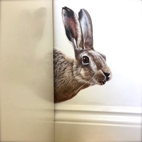 Image of Hartley Hare ~ Wall sticker decal